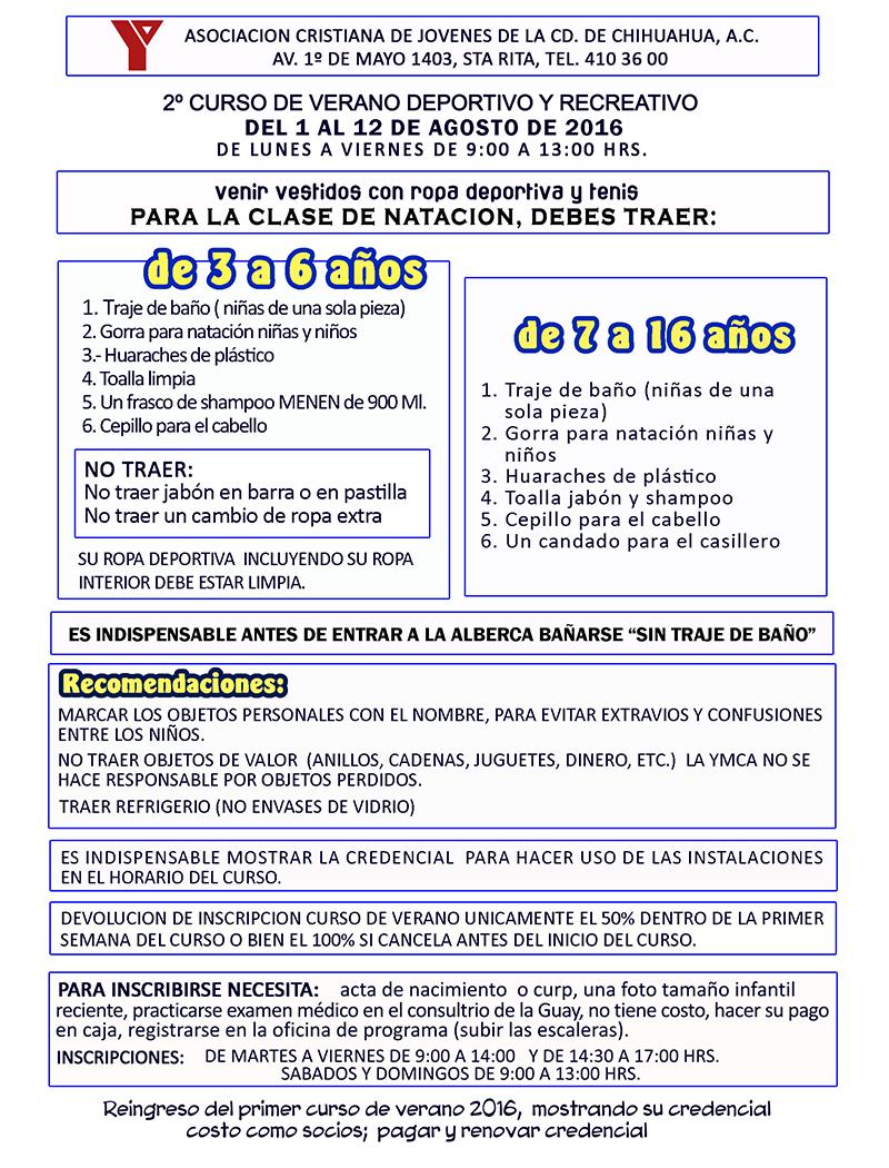 REQUISITOS 2º CURSO DE VERANO.2016-1